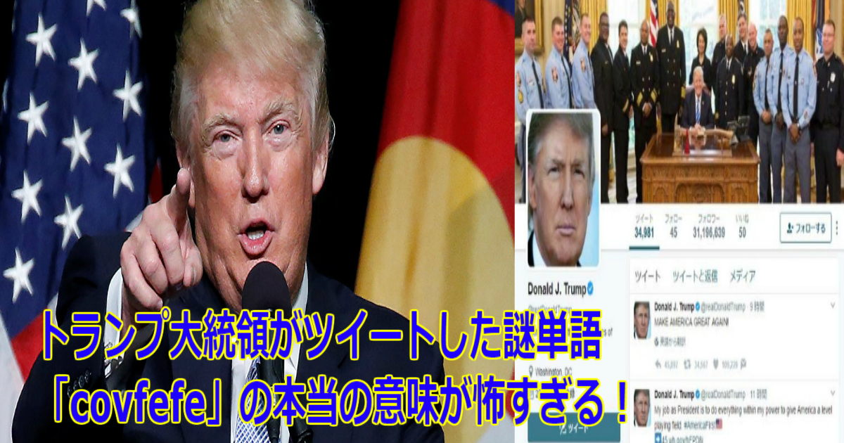 r 1.jpg - 【Twitter】トランプ大統領がツイートした謎単語「covfefe」の本当の意味が怖すぎる!