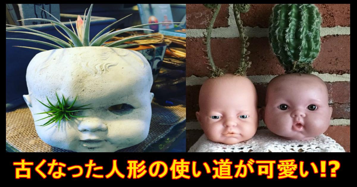 unnamed file 8.jpg - 恐怖!?エコ!?古い人形を使った「植木鉢」が怖い!