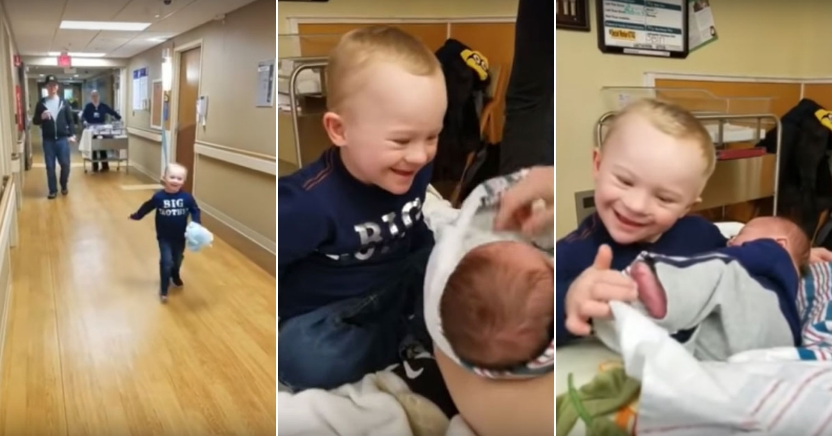 baby 8.jpg - Boy With Down Syndrome Recorded Meeting His Little Brother For The First Time