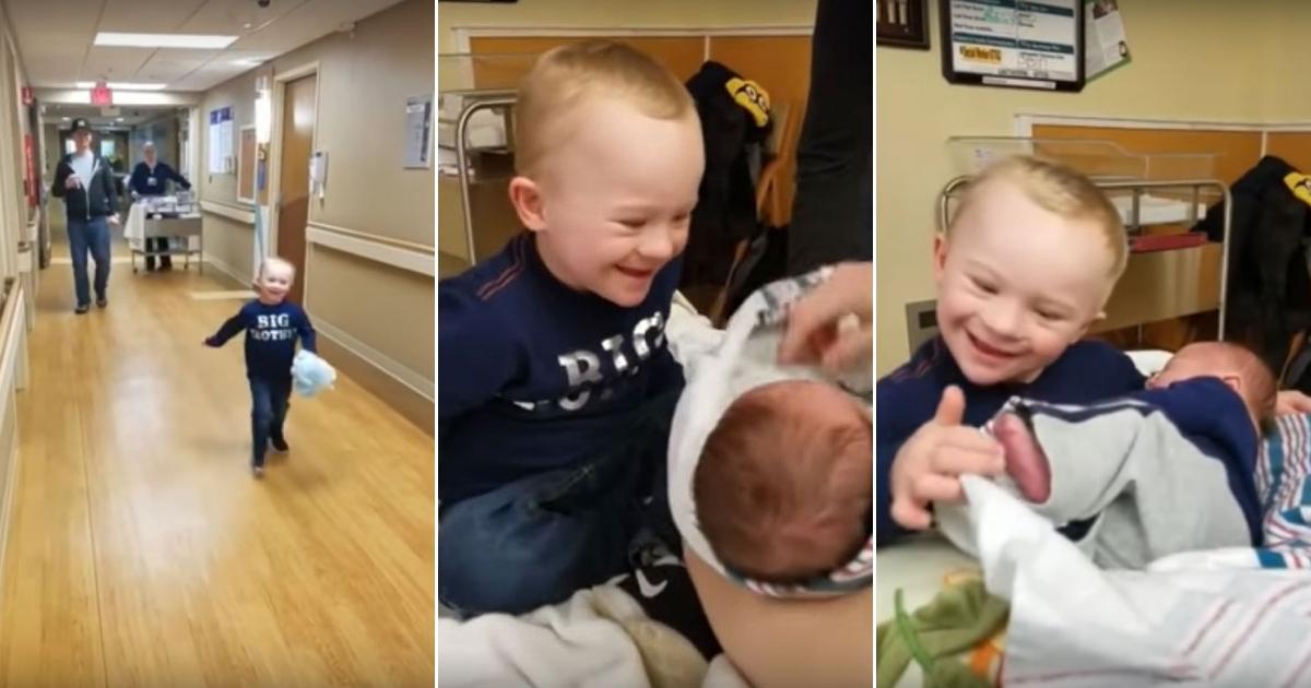 baby 8.jpg - Menino com síndrome de Down encontra irmão mais novo pela primeira vez, e sua reação é tão preciosa...