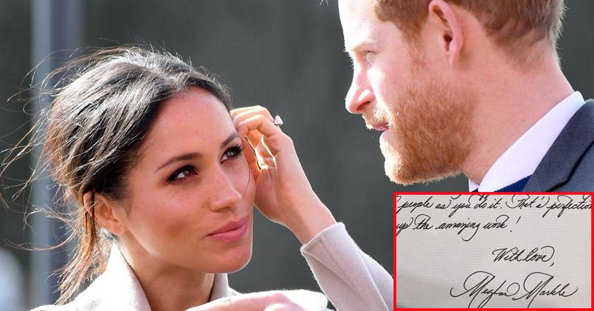 experts reveal why meghan markles handwriting has changed since she met prince harry.jpg - Especialistas revelam porque a letra de Meghan Markle mudou desde que ela conheceu o príncipe Harry