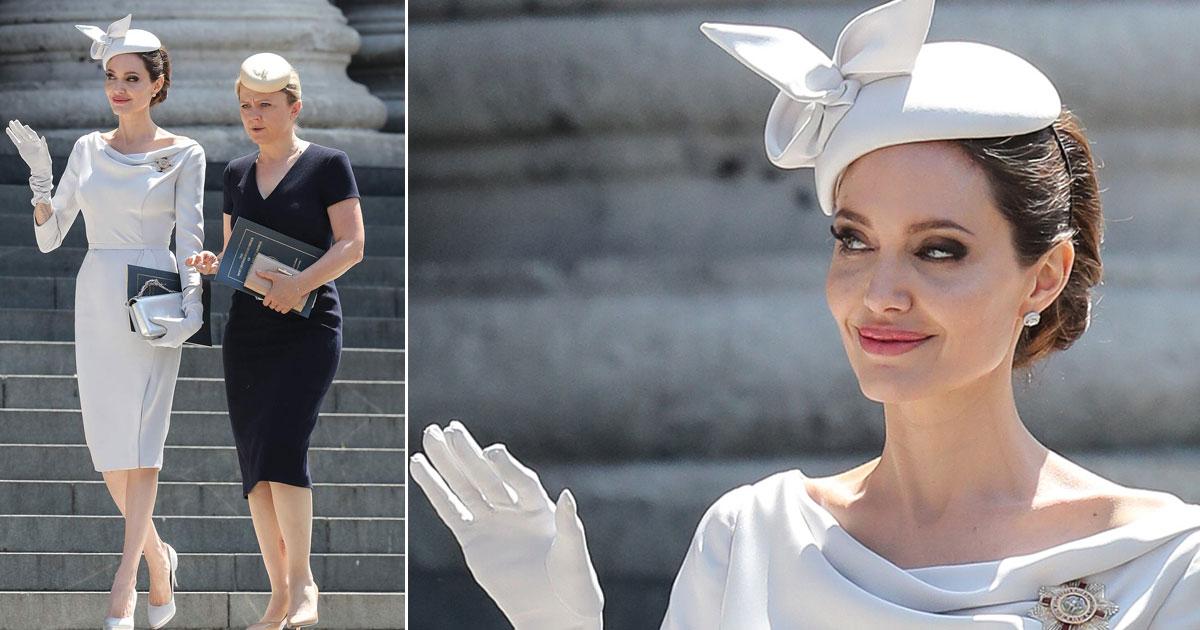 untitled 1 193.jpg - Angelina Jolie roba el show cuando llega para asistir al servicio de dedicación en la Catedral de San Pablo