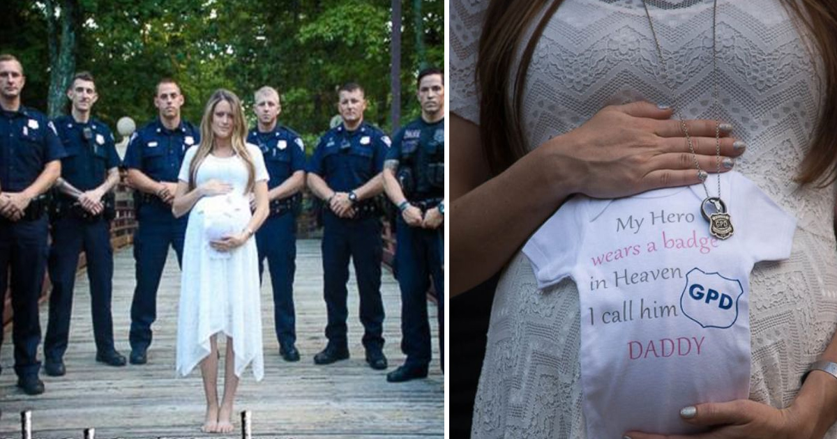 gagaaaa.jpg - Her Husband Died On Duty, So This Pregnant Woman Had A Photoshoot In His Honor