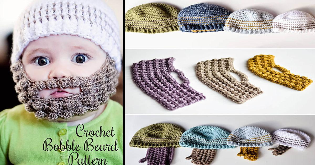 These New Crochet Bobble Beard Pattern Hat Make Kids Cuter Small Joys