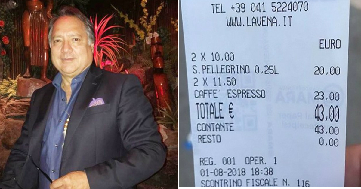 expensive cafe.jpg - Angry Customer Slammed Venice Café For Charging Him $50 For Two Cups Of Coffee And Two Bottles Of Water