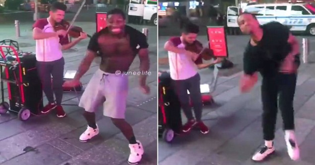 featured image 39.jpg - Four Men Start Dancing The Harlem Shake And Talented Violinist Played Incredible Music In Times Square