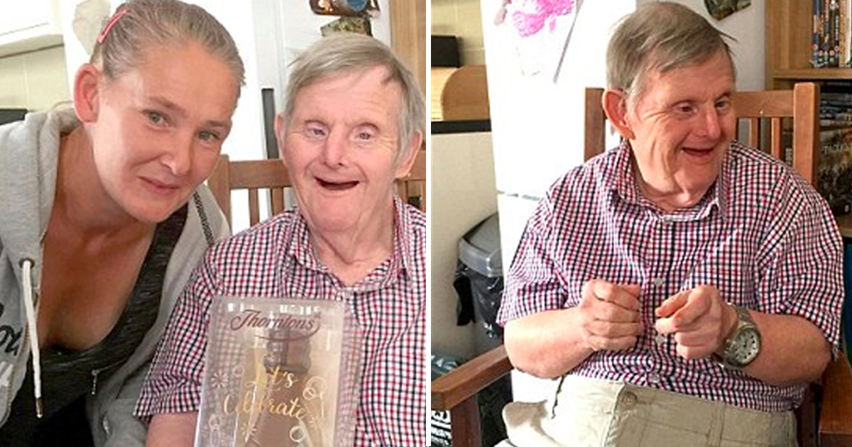 hah 2.jpg - Man With Down's Syndrome Defied Doctors As He Celebrated His 72nd Birthday