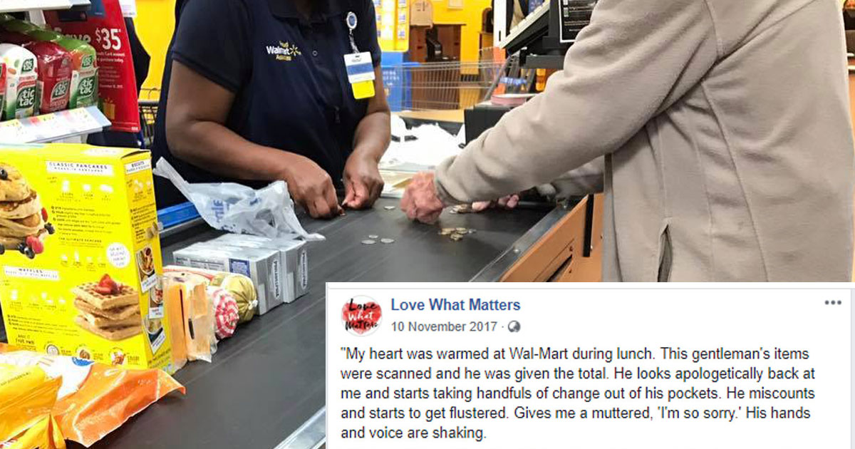 kind walmart cashier.jpg - Un homme âgé prend trop de temps à la caisse, la réponse de l'hôtesse de caisse est exemplaire.