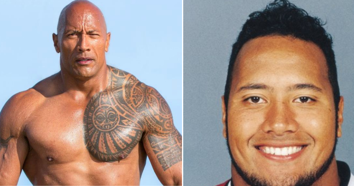 rock fat.jpg - Dwayne 'The Rock' Johnson Revealed That He Was Once Chubby And Shared Old Photo