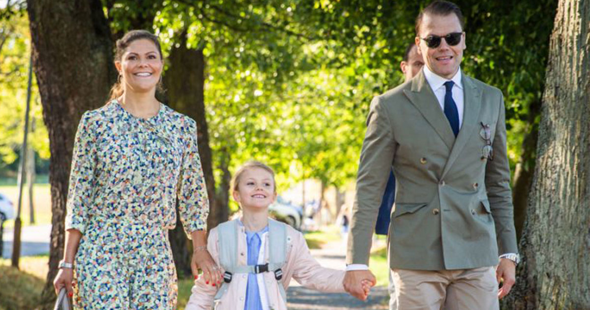 untitled 1 128.jpg - La princesse héritière Victoria de Suède et le prince Daniel ont déposé leur fille pour son premier jour d'école