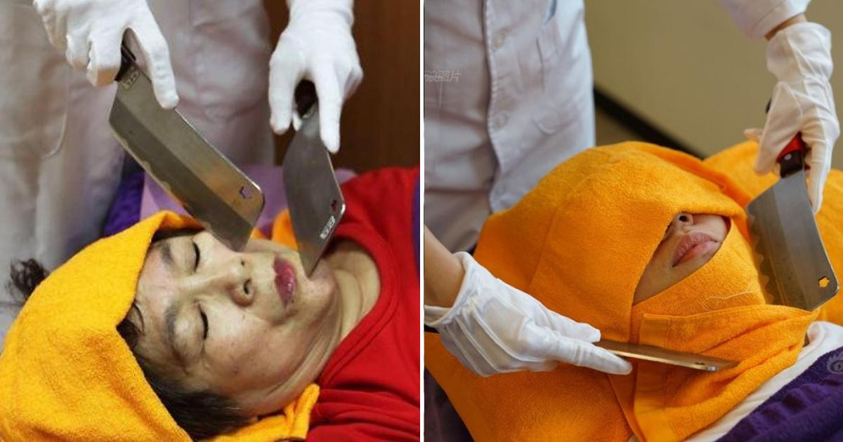 """2 5.jpg - """"닭 자르던 칼을 얼굴에""""... 요즘 대만에서 핫하다는 칼 마사지 (영상)"""