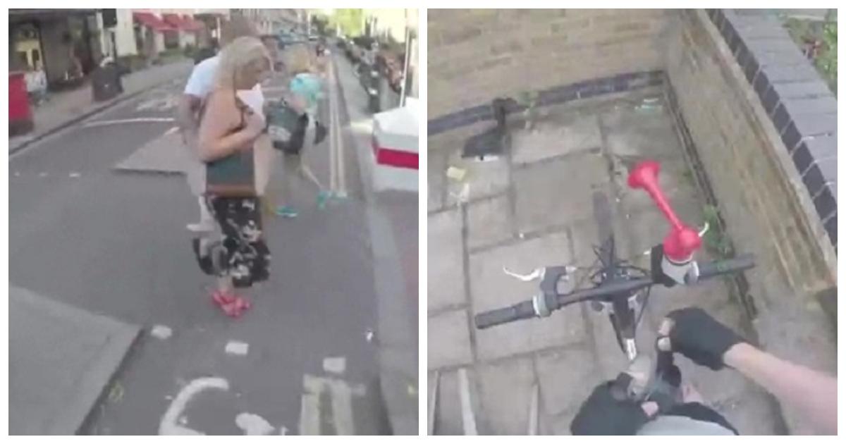 biker.jpg - Ciclista em Londres compra uma buzina de ar para que ele possa buzinar para pedestres que andam na ciclovia