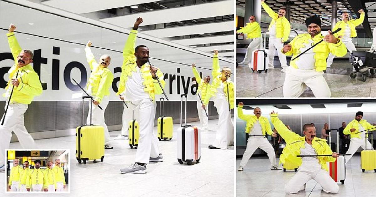 featured image 26.jpg - Funcionários da British Airways pagam tributo a Freddie Mercury que trabalhava como manipulador de bagagem antes de sua ascensão meteórica à fama