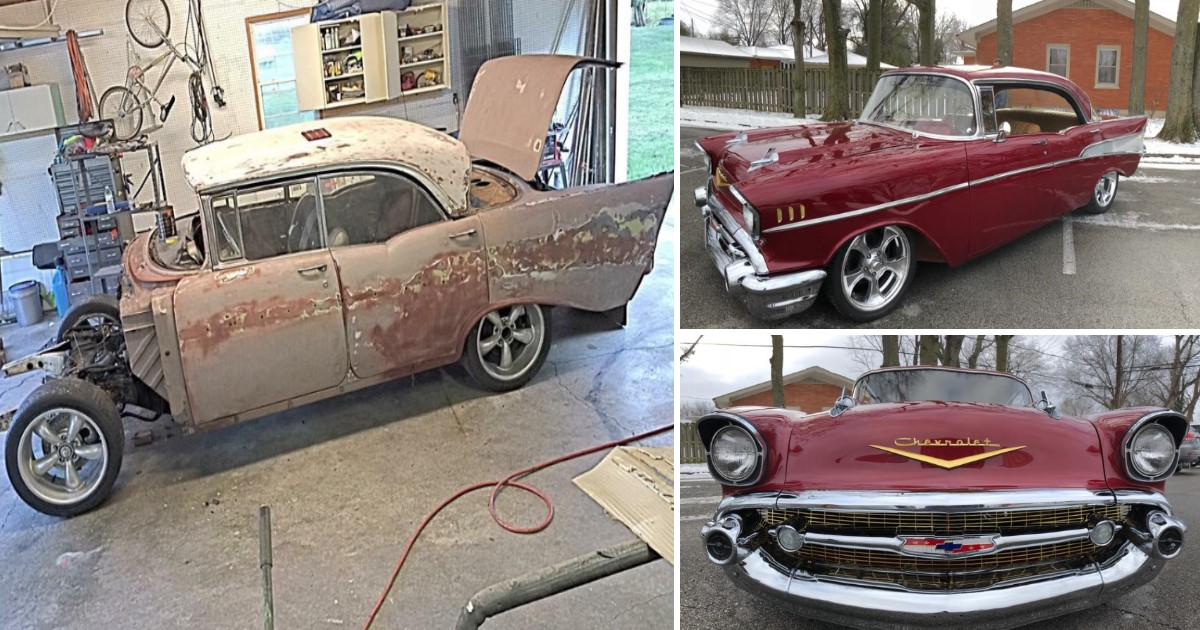 featured image 8.jpg - Grandson Secretly Restores Grandpa's 1957 Chevy Bel Air By Selling His Own Car
