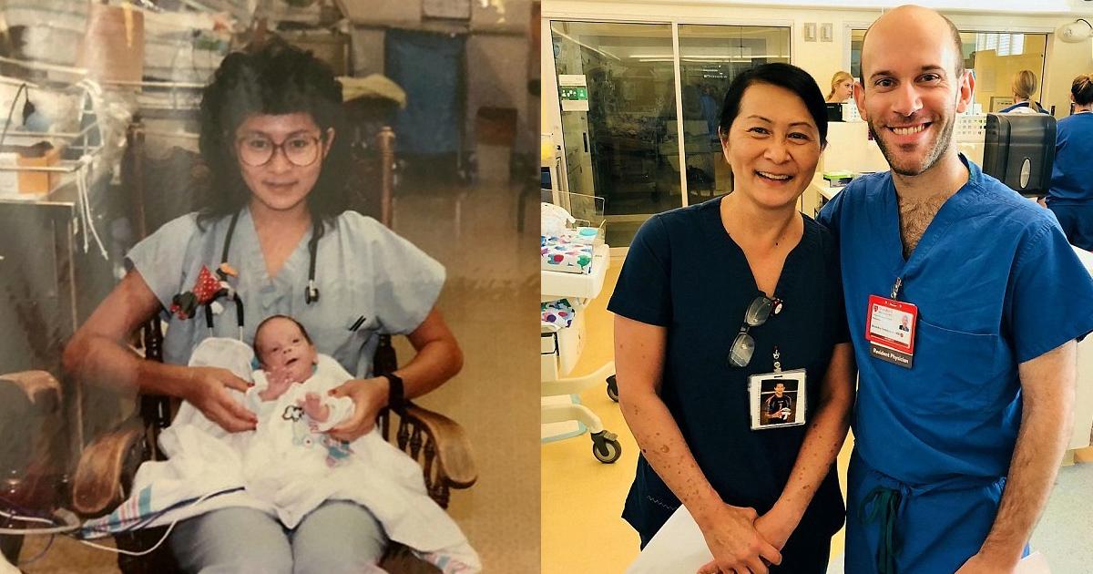 vvv 3.jpg - Une infirmière pédiatrique de 52 ans est abasourdie lorsqu'elle découvre qu'elle s'est occupé de son nouveau collègue lorsqu'il était né prématuré dans son hôpital