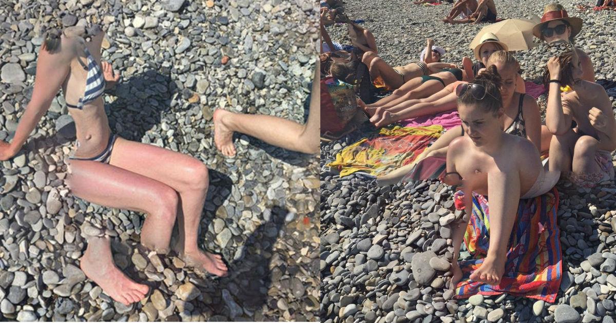"""1 copy.jpg - 【グーグルマップ】発見されたビーチの恐怖画像!!!...「体半分の水着美女」、「解体されたカップル」、「悪夢の""""ボディスワップ""""」も…!?"""