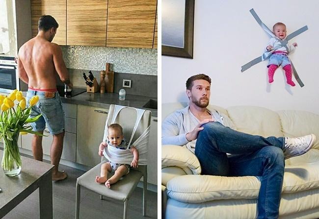 baby 7.jpg - 18 Provas de que deixar as crianças com o pai é uma ótima ideia