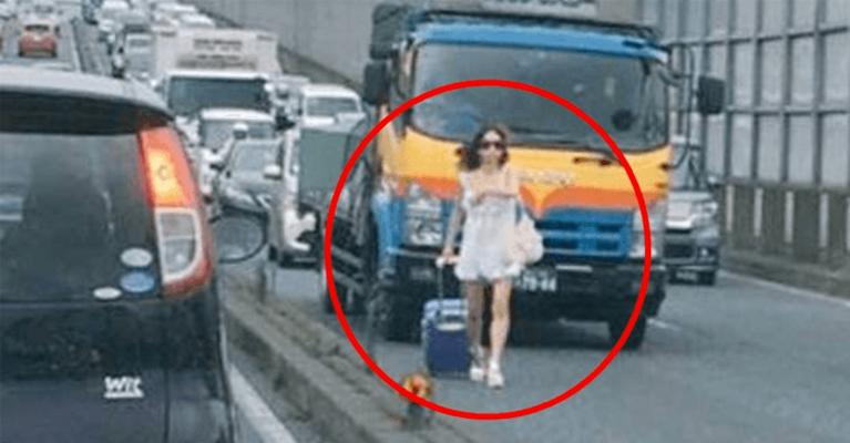 eyecatch 2.png - DQN女が千葉県の国道を歩く…大渋滞を起こしてドライバーが大激怒!!!その結果…