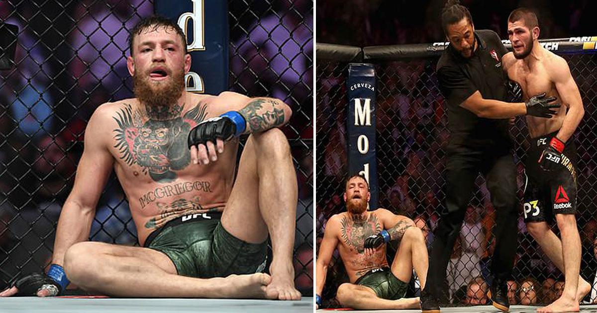khabib conor.jpg - Conor McGregor suspenso por um mês por questões médicas após Khabib derrotá-lo na UFC 229