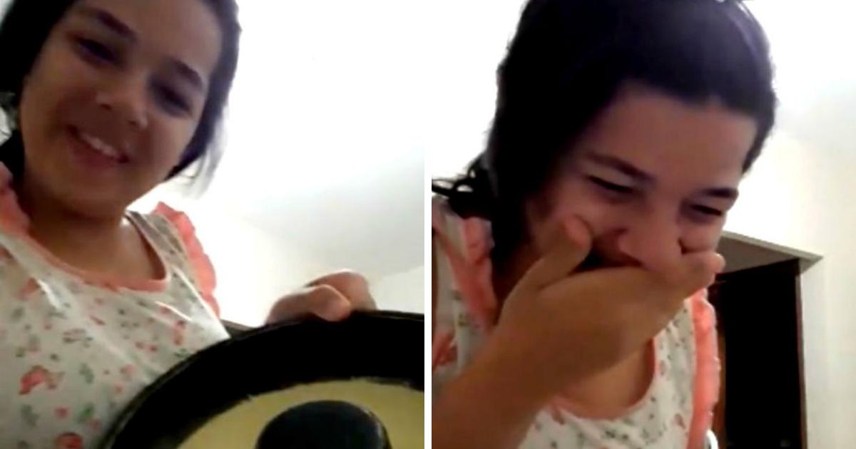 pudim.png - Adolescente chora ao fazer primeiro pudim e viraliza na web