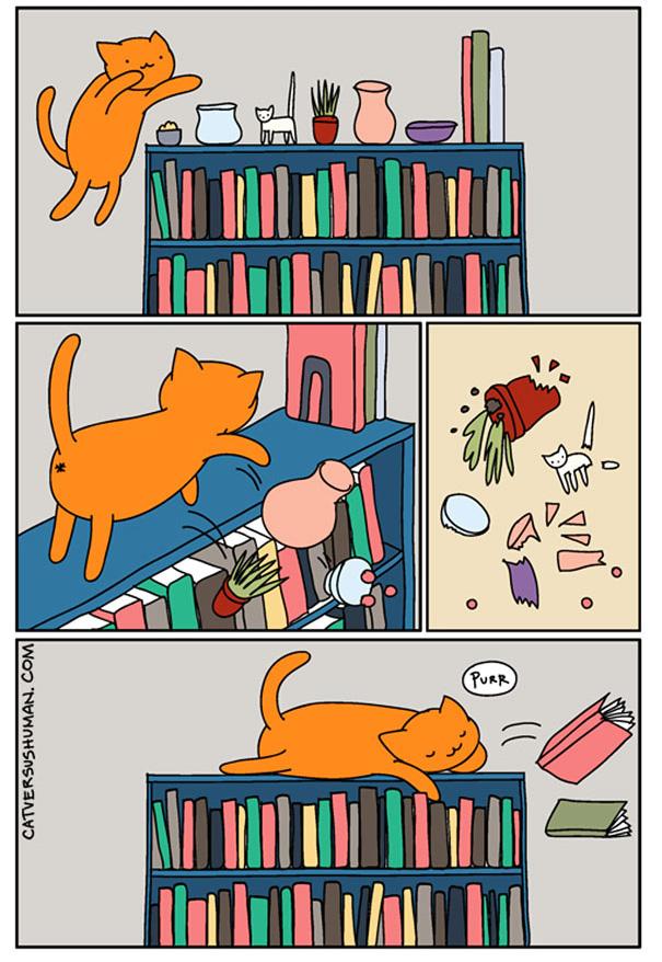 bandes dessinees vie avec chats 13.jpg - 14 BD qui résument parfaitement la vie avec un chat