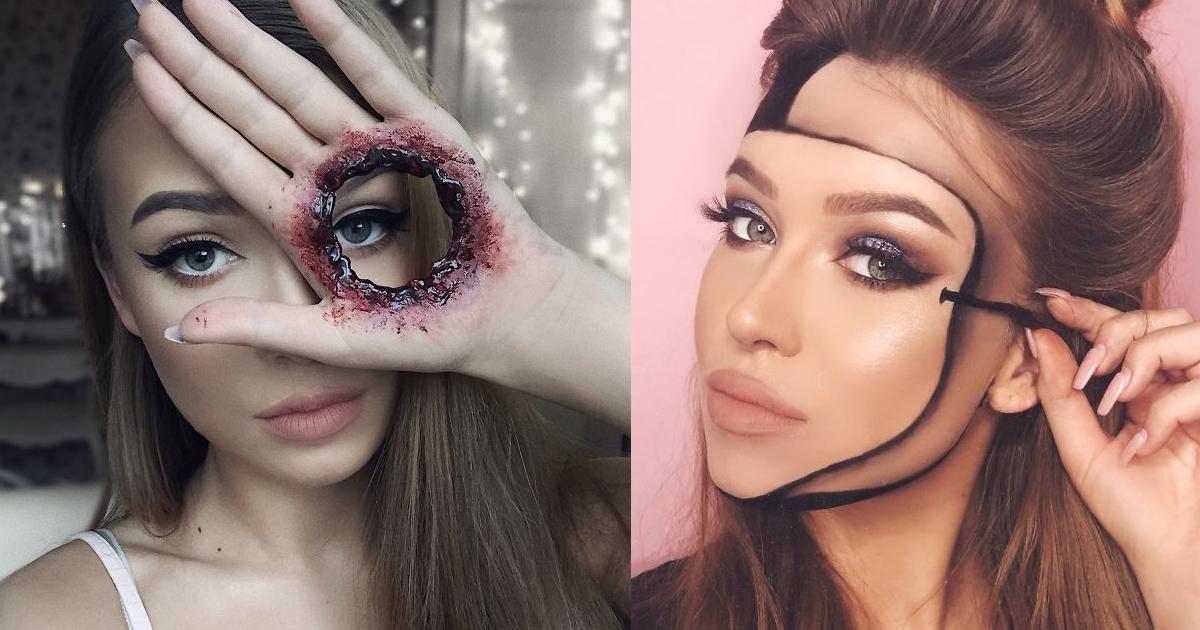 e69caae591bde5908d 1 2.jpg - 又驚悚又夢幻!23歲化妝師化出「讓你懷疑現實」的超狂妝容,不敢直視啊~