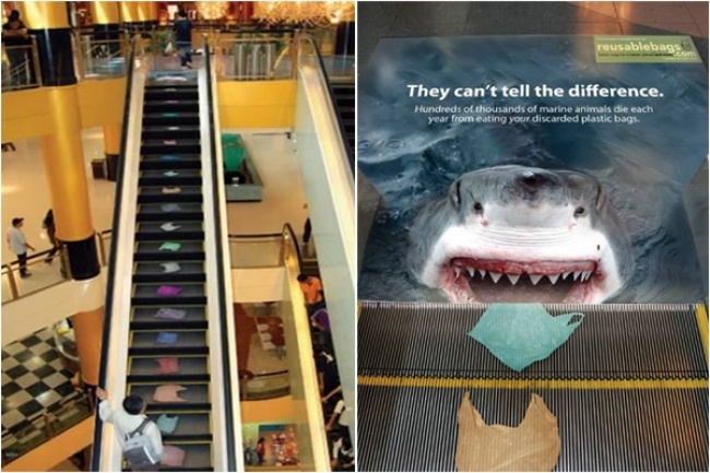 shar.jpg - 16 Extraordinárias propagandas feitas em escadas rolantes