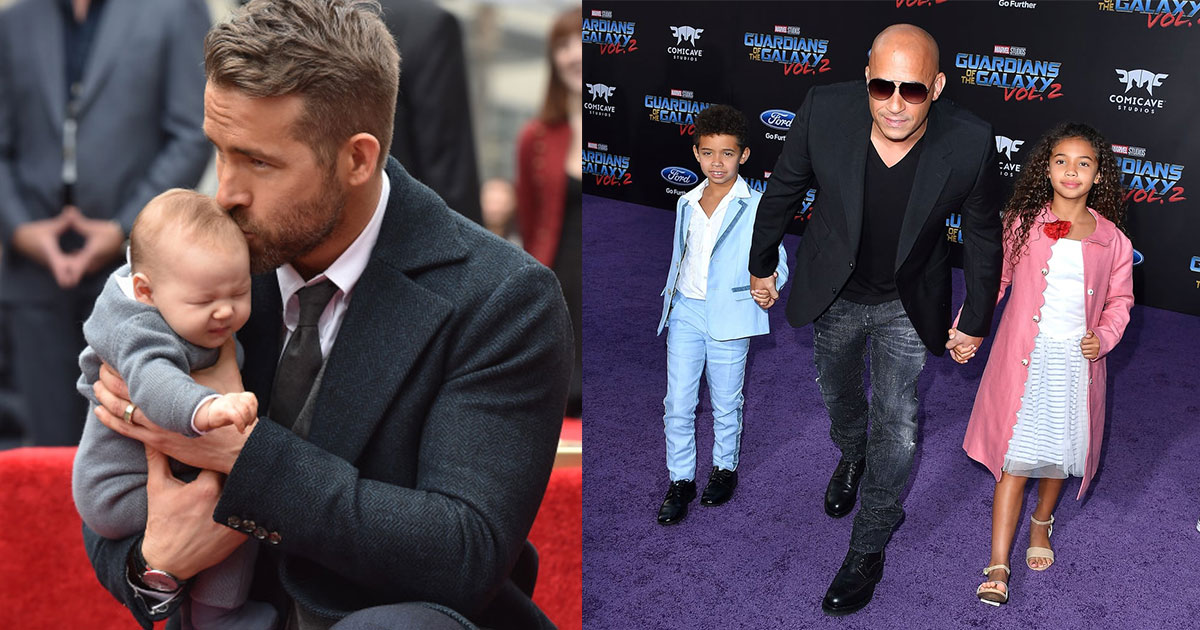 10 pictures of celebrity dads which are too adorable.jpg - 10+ Adorable Pictures Of Celebrity Dads With Their Children