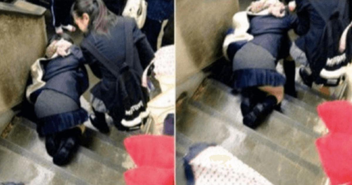 5 54.jpg - 鬼畜JKが妊婦のブラを引っ張って「とっとと歩け!」と階段から突き落した?