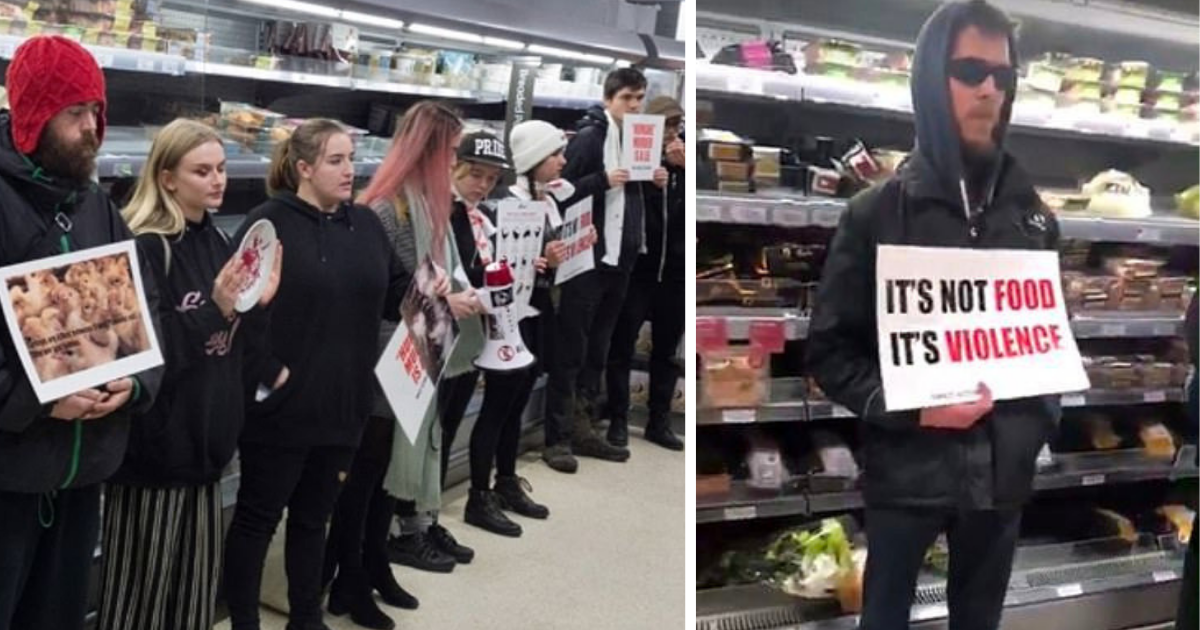 before 2.png - Activists Protested Against Turkey Meat Inside A Store And Even Stopped People From Buying