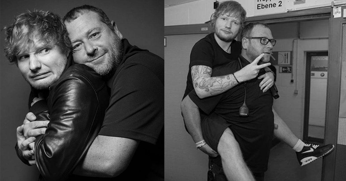 ed sheerans bodyguard is an instagram king as he trolls his boss in the wittiest way.jpg - Ed Sheeran's Bodyguard Trolls His Boss By Sharing Funny Pictures On Instagram