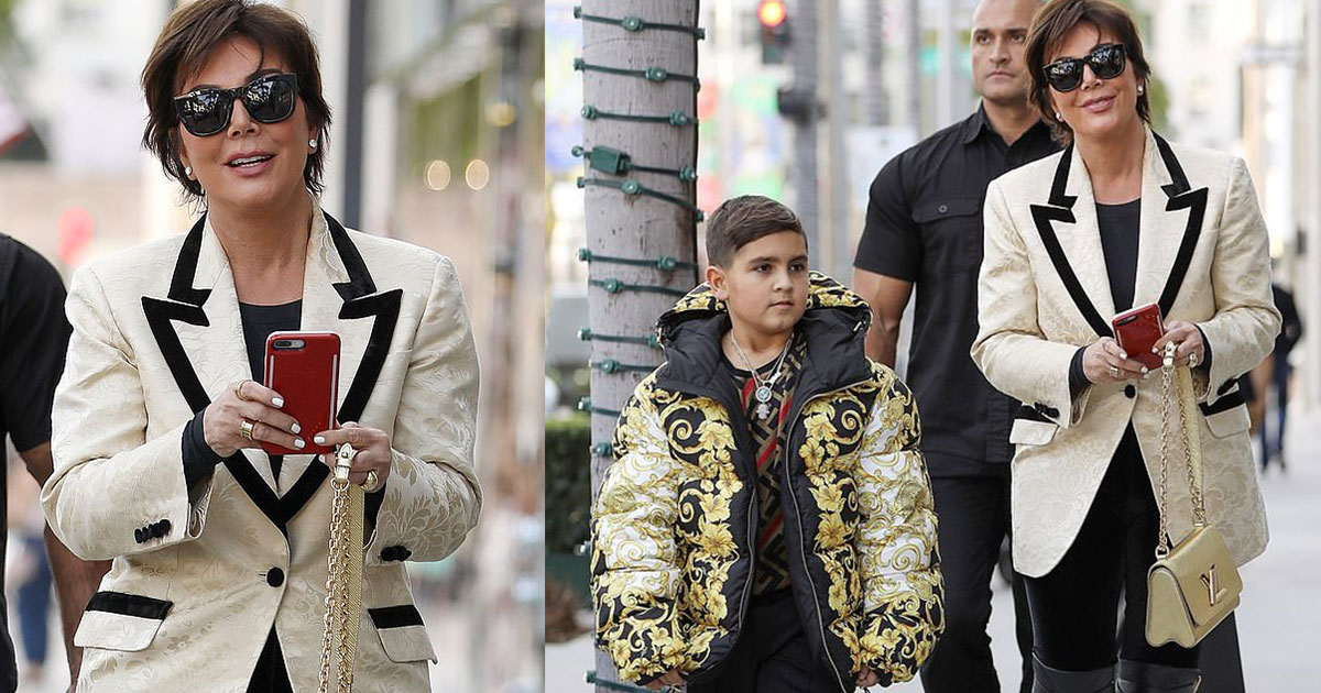 kris jenner buys a 3k versace puffer coat for her grandson as she stepped out for christmas shopping in beverly hills.jpg - Kris Jenner Bought A $3k Versace Puffer Coat For Her Grandson