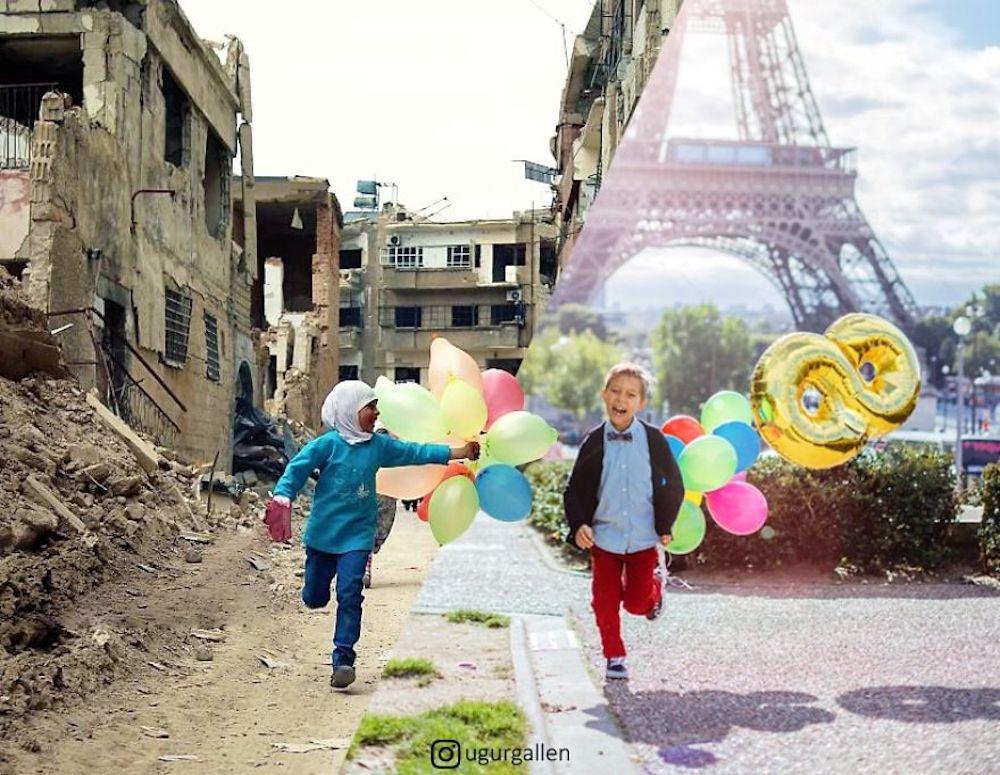 ugurgallen constrates photos chocs monde 4.jpg - Il dénonce les contrastes de notre monde dans des montages percutants