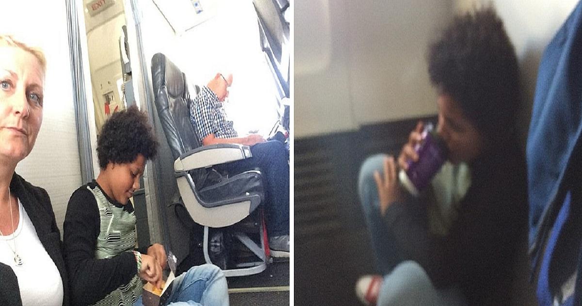 a3 4.jpg - Une famille monte dans un avion pour un vol de 2h pour découvrir que leurs sièges n'existent pas ! Ils passent le vol assis par terre