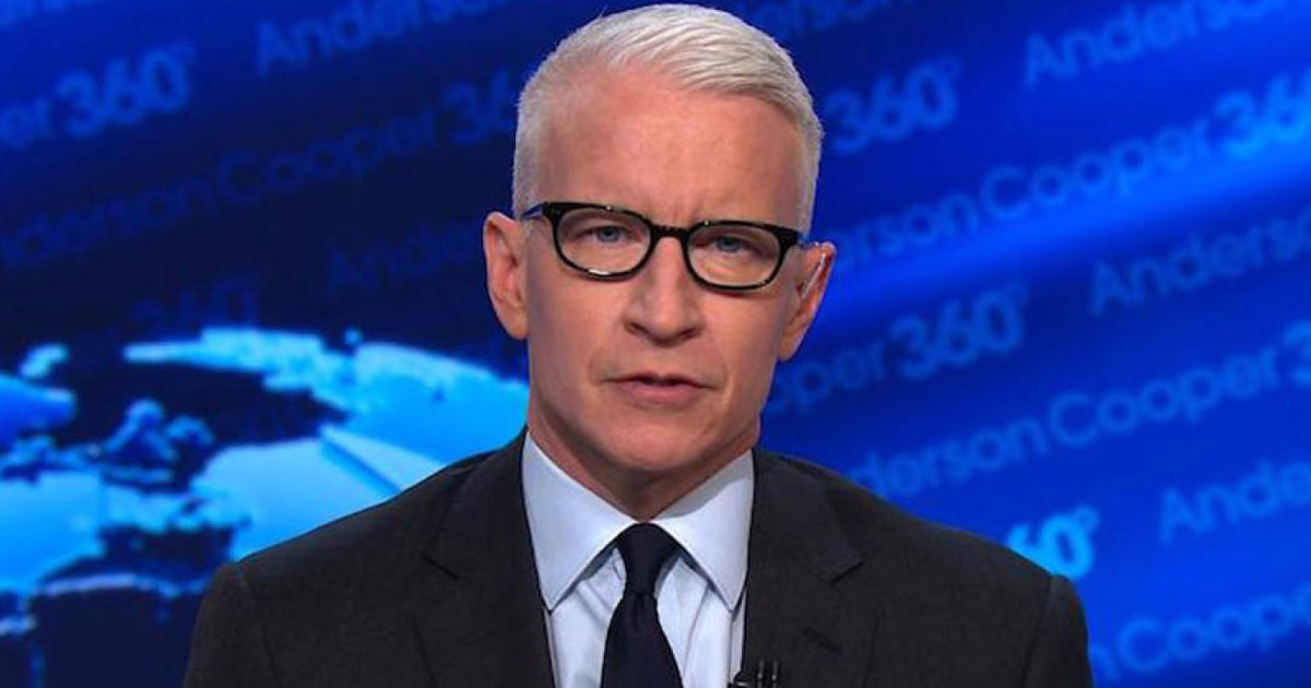 cnn anderson cooper.jpg - Drunk Anderson Cooper Said On Air That His Mother Had A 'One Night Date' With Marlon Brando