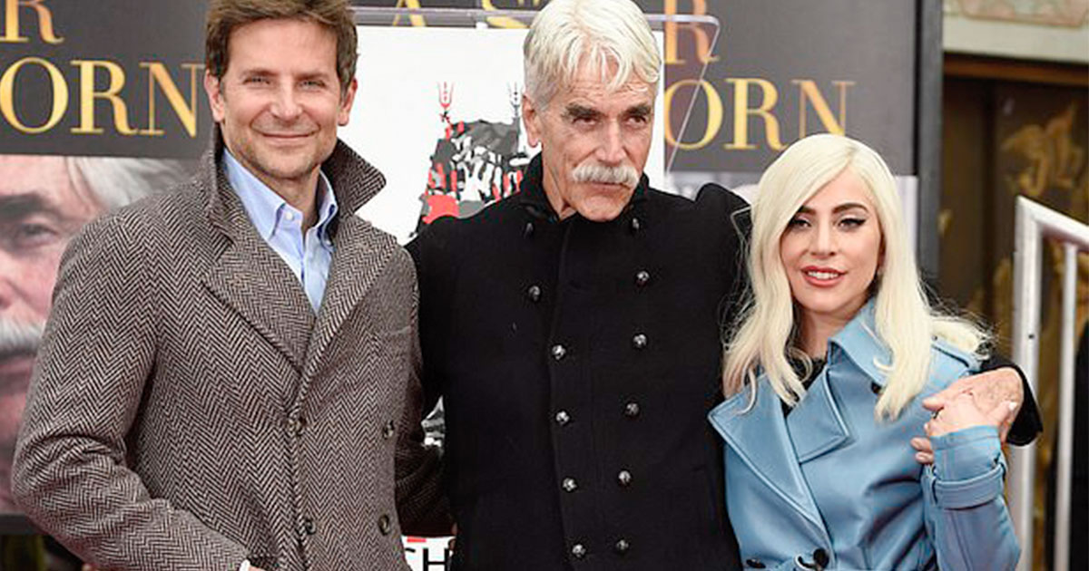 lady gaga and bradley cooper attended hand and footprint ceremony to support co star sam elliott.jpg - Lady Gaga And Bradley Cooper Attended Hand And Footprint Ceremony To Support Co-star Sam Elliott