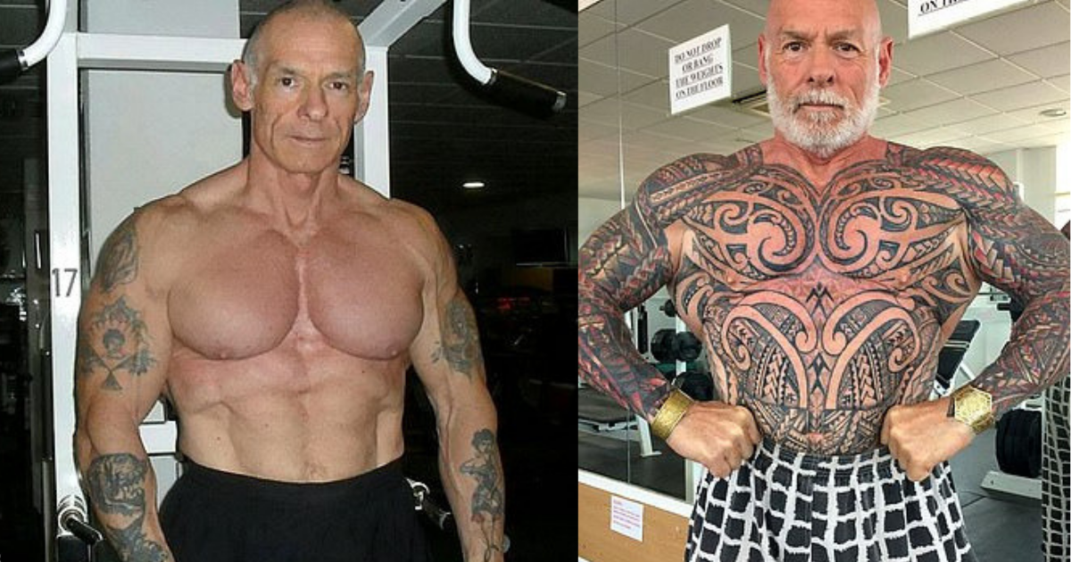 y4.png - 61-Year-Old Bodybuilder Covered His Entire Body Up In Tattoos