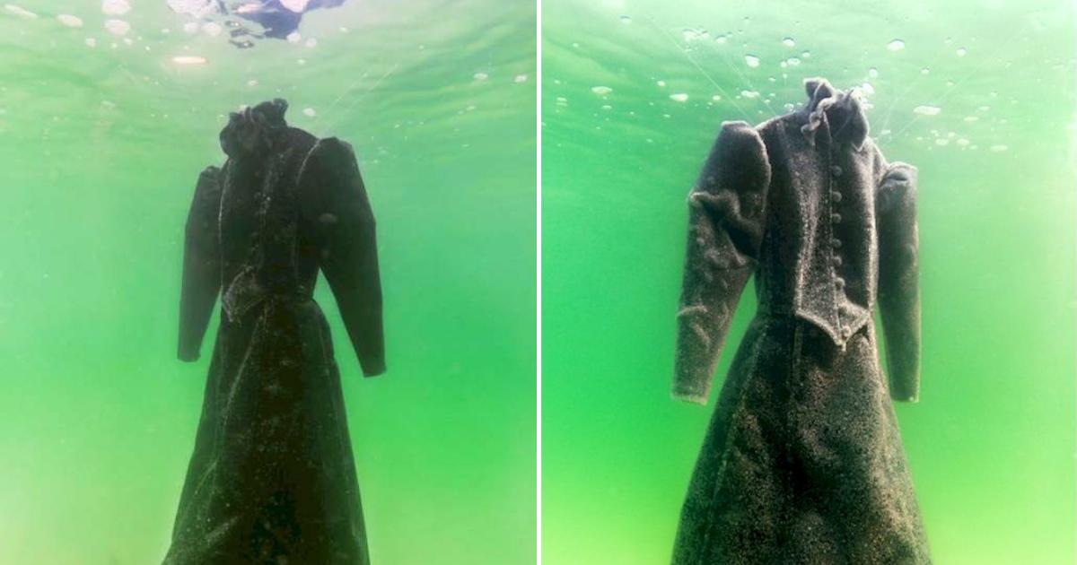 dress6.png - Une robe de mariée noire laissée en mer pendant deux ans se transforme en chef-d'œuvre