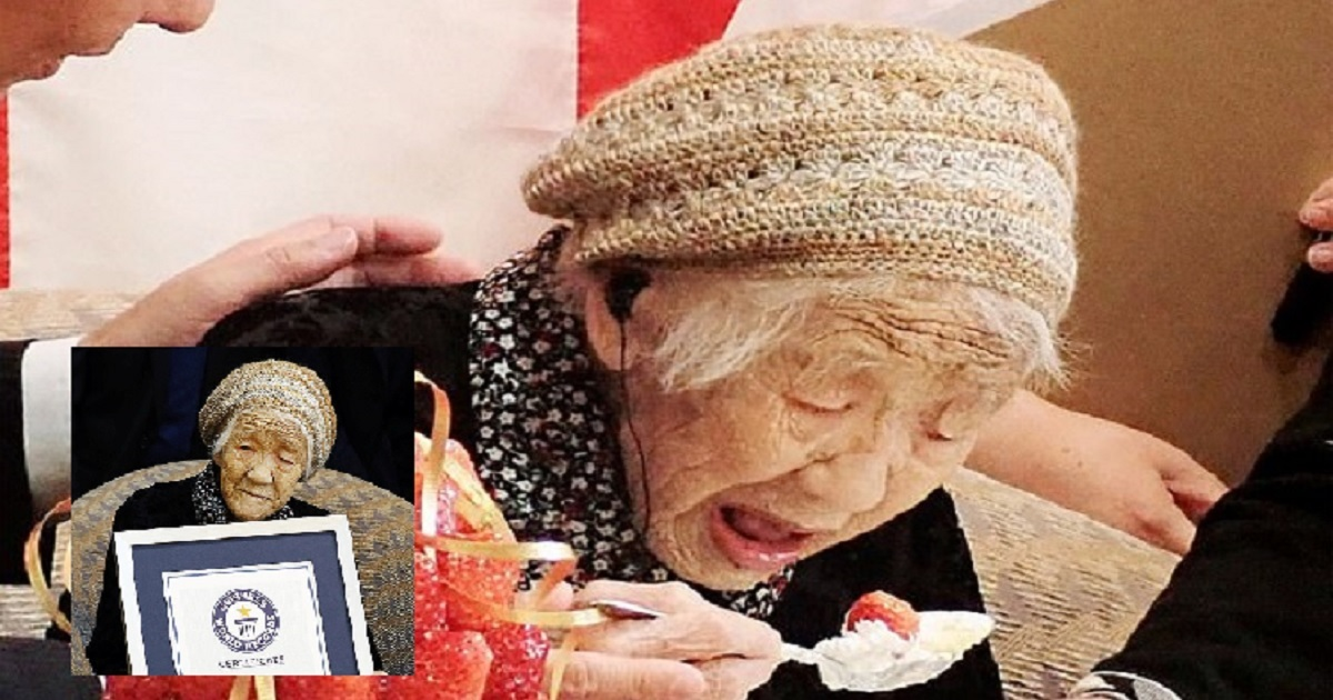 04 5.jpg - Japanese Woman Celebrates Becoming The Oldest Living Person In The World By Eating Strawberries And Cream