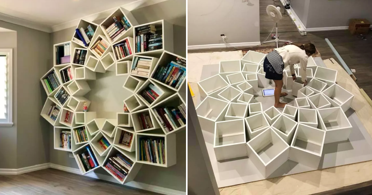 custom bookcase.png - A Couple Built A Custom Bookcase For Their Children And They Loved It