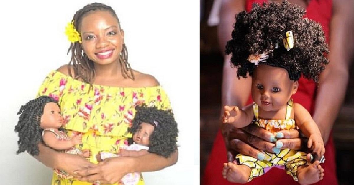 d4 2.jpg - Une femme crée des poupées avec différentes teintes de peau et des coupes afros pour apprendre aux jeunes filles à s'aimer comme elles sont