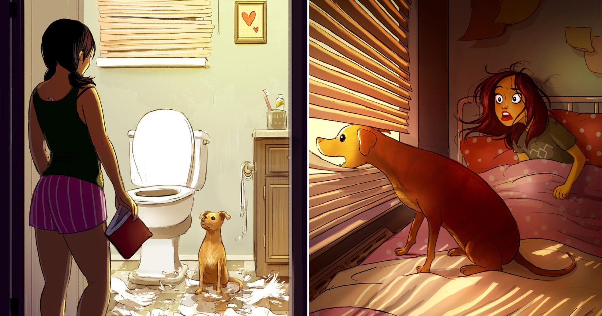dog owners relate.png - 15 Illustrations That Show Why Dog Owners Never Feel Alone