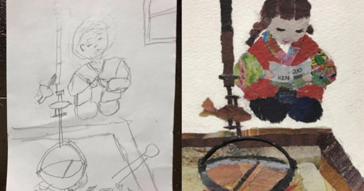 e696b0e5bbbae9a1b9e79bae 2 1.png - 新聞紙でちぎり絵を作った90歳のおばあちゃん、作品のクオリティーが高すぎ!!