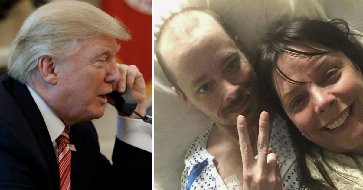 featured image 16.png - Heartwarming Moment As Trump Calls Terminally Ill Man To Fulfill His Dying Wish