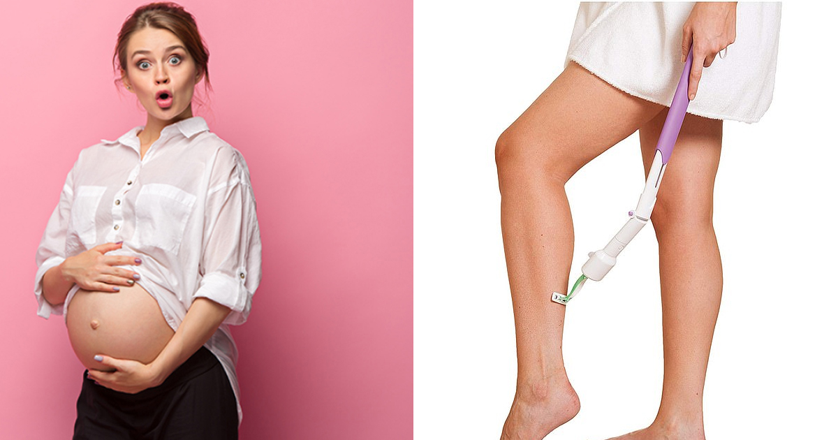 jhjh.jpg - Pregnant women are obsessed with this genius gadget that lets them shave the legs without bending down