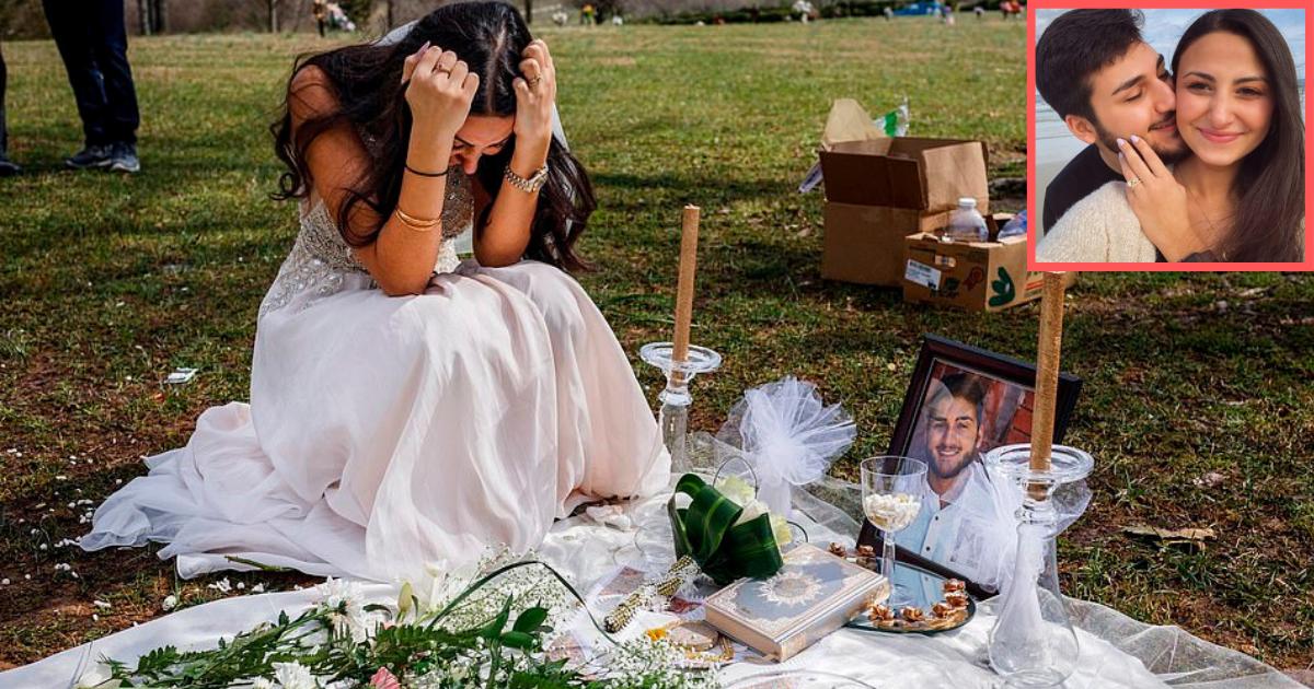 s3 8.png - Des photos déchirantes d'une jeune mariée en deuil dans sa robe sur la tombe de son fiancé le jour de leur mariage