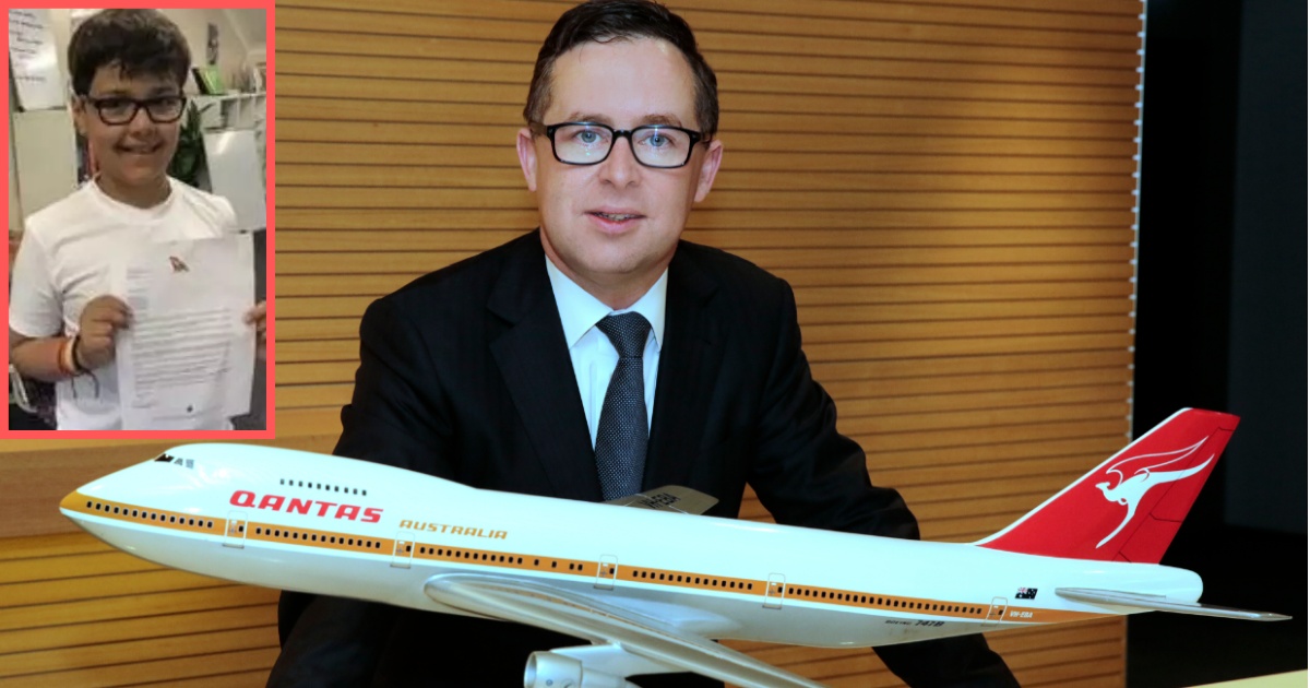 y3 7.png - Un garçon de 10 ans a écrit une lettre au PDG de la compagnie aérienne Qantas et est devenue virale