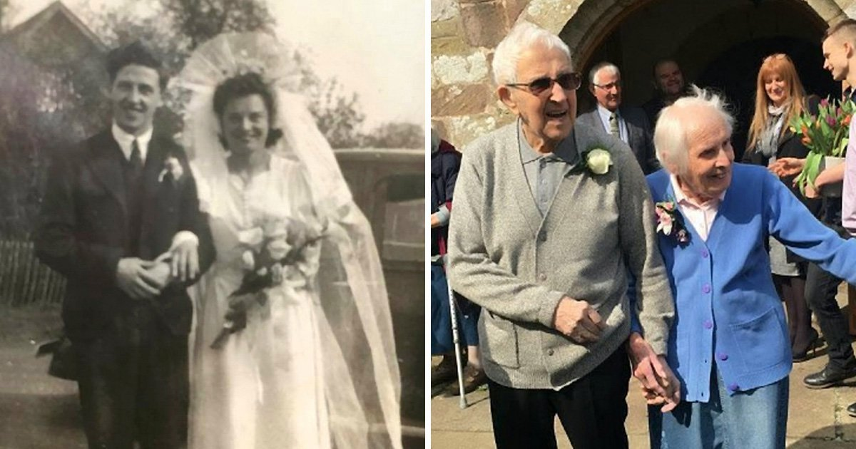 a 20.jpg - Elderly Couple Returned To The Church They Got Married 75 Years Ago To Renew Their Vows