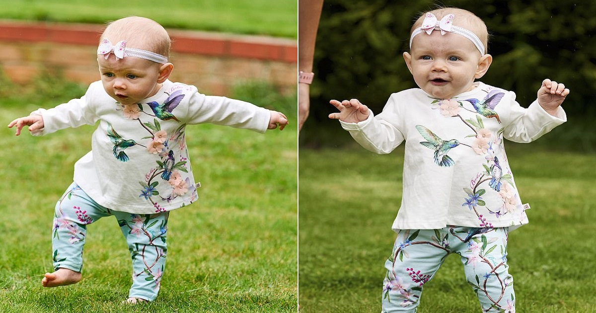b5 1.jpg - Baby Girl Skipped The Crawling Stage And Started Walking At Six Months