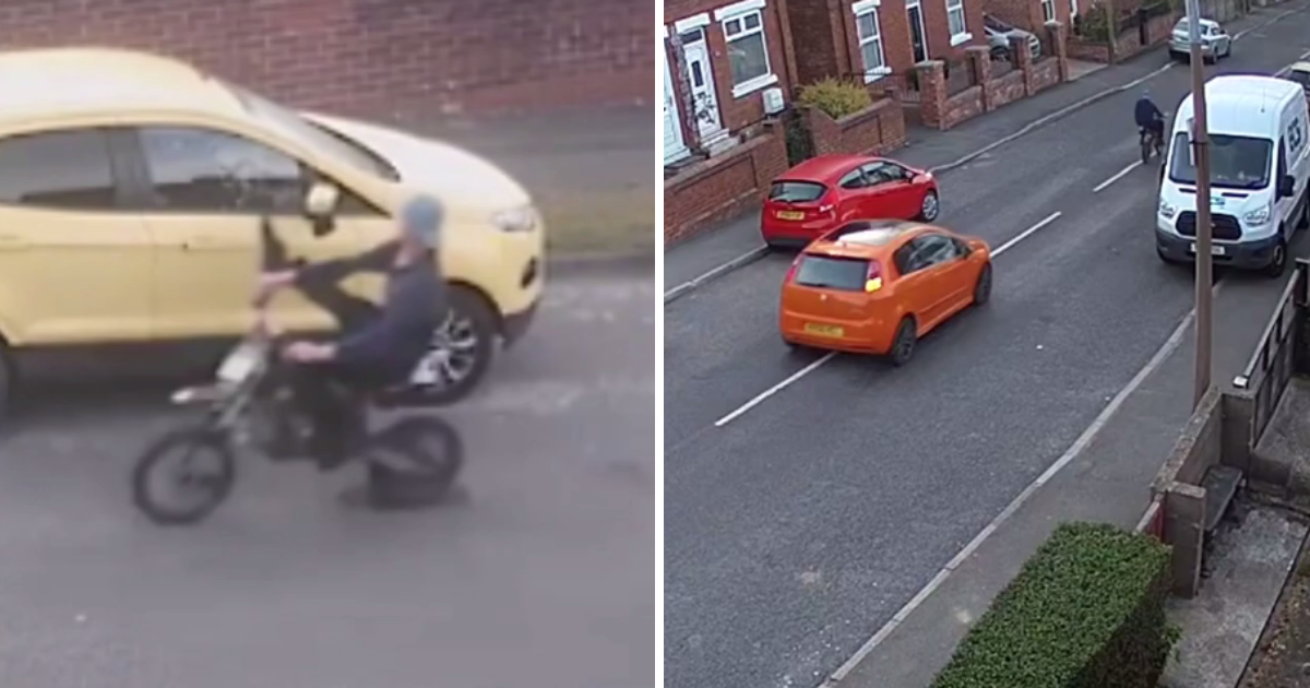 biker rammed.png - Biker Who Deliberately Knocked People's Car Mirrors Off Was Rammed By Angry Driver